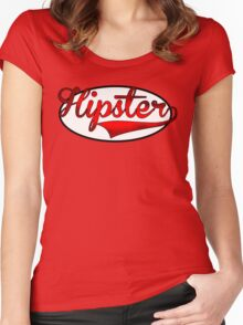 HIPSTER TEE | RED Women's Fitted Scoop T-Shirt