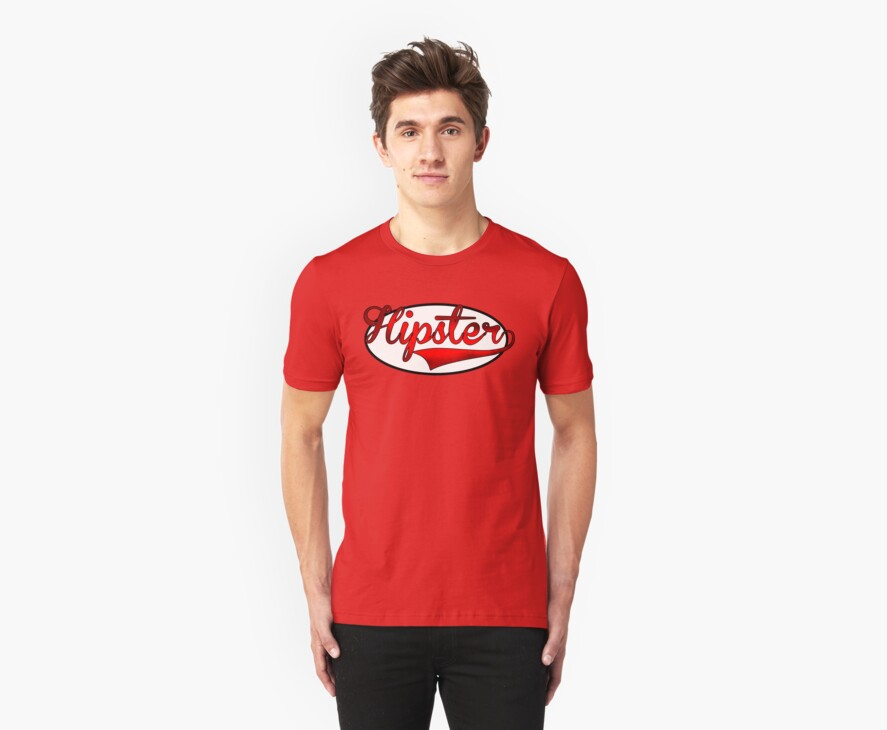 HIPSTER TEE | RED by RhysDesigns94