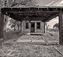 Service Station at Glenrio, New Mexico by Mitchell Tillison