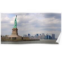 Lady Liberty looking over the City. Poster