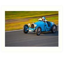 Blue Bugatti - 1927 type 35A  Art Print