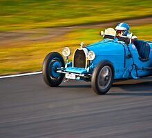 Blue Bugatti - 1927 type 35A  by Tom Row