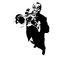 Louis Armstrong t-shirt Photographic Print