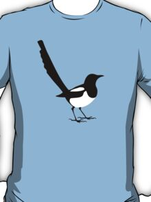 Ekster outline in black and white magpie T-Shirt