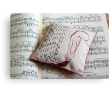 Rescue - Little art pillow Canvas Print