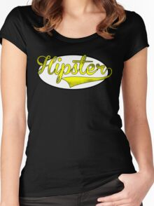 HIPSTER TEE | YELLOW Women's Fitted Scoop T-Shirt