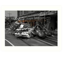 Disaster in New Zealand Art Print
