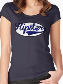HIPSTER TEE | BLUE Women's Fitted Scoop T-Shirt