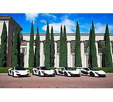 White McLaren Supercar Photoshoot Photographic Print