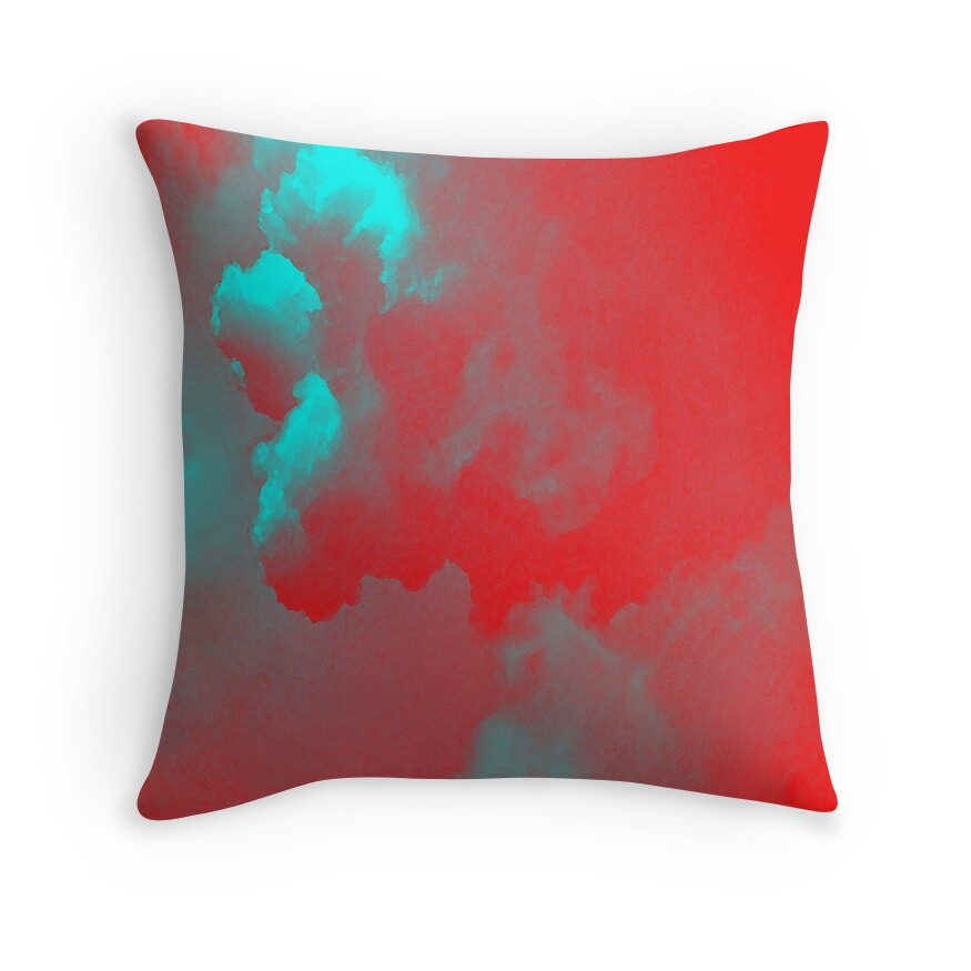 Quotsky red blue turquoise 2quot throw pillows by eliso silva for Turquoise and red throw pillows