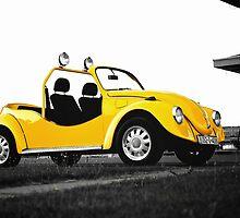 Yellow volkswagen beetle car by Mirko Danilović
