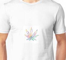 Rainbow Marijuana Leaf Unisex T-Shirt
