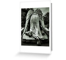 On Bended Knee Greeting Card