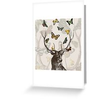 The Stag & Butterflies Greeting Card