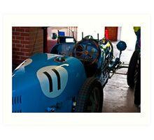 Blue Bugatti - 1927 type 35A - Back view Art Print