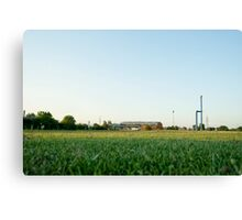 Some factories in the distance Canvas Print