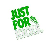 Just for kicks- Green Photographic Print
