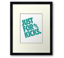 Just for kicks-Aqua Framed Print