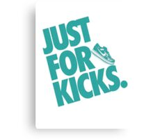 Just for kicks-Aqua Canvas Print