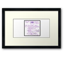 Cecil's Daily Report Framed Print