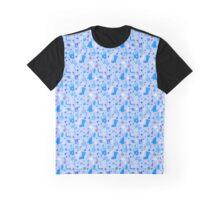Light blue winter hollidays pattern Graphic T-Shirt
