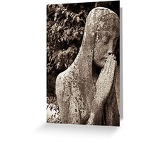deep prayer to the goddess Greeting Card