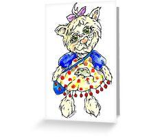 smart kitty Greeting Card