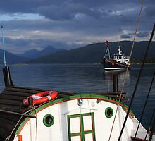 Ships in a Norwegian fjord by intensivelight
