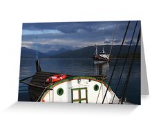 Ships in a Norwegian fjord Greeting Card
