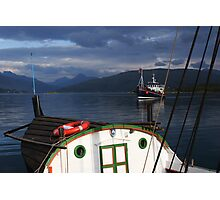 Ships in a Norwegian fjord Photographic Print