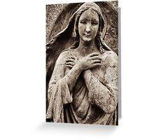 mona lisa angel Greeting Card