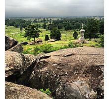 Gettysburg Battlefield with Monument Photographic Print