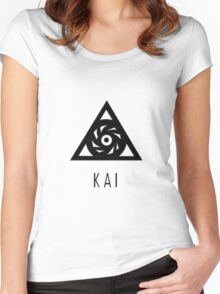 EXO Kai Name Women's Fitted Scoop T-Shirt