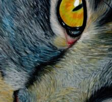 The Cat in Coloured Pencil Sticker