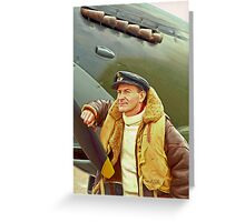 Spitfire Pilot Greeting Card
