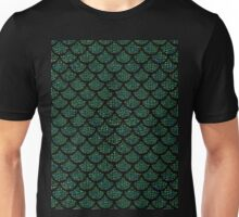 green sequin mermaid merman Unisex T-Shirt