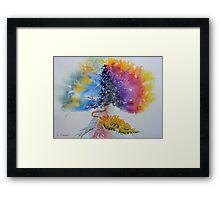 Aquarelle Live Oak Framed Print