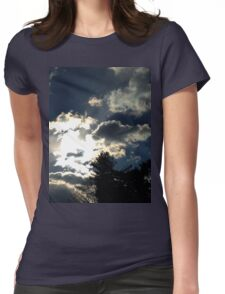 Sunny Snowy Day Womens Fitted T-Shirt