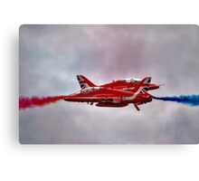 Red Arrows Painting the Sky 2015 Canvas Print