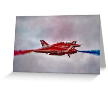 Red Arrows Painting the Sky 2015 Greeting Card