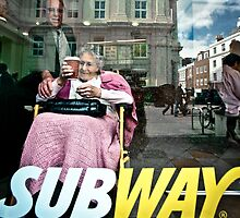 Lady in Subway, Brighton by Heather Buckley