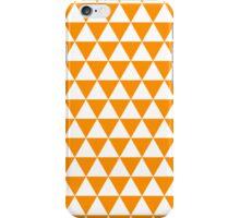 triangle waterfall (tangerine) iPhone Case/Skin