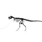Dino Black on White by RichPicks