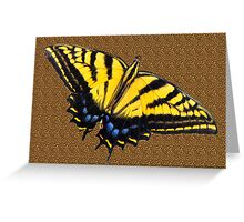 Butterfly on Leopard Print  Greeting Card