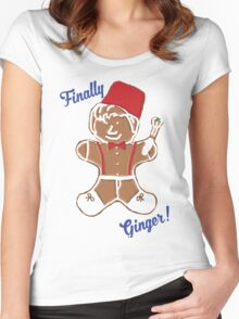 The 11th Doctor is Finally Ginger! Women's Fitted Scoop T-Shirt