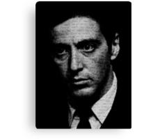The Godfather - I know it was you, Fredo. Canvas Print