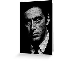 The Godfather - I know it was you, Fredo. Greeting Card