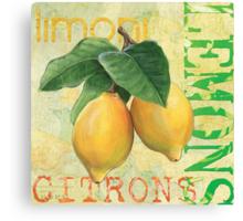 Froyo Lemons Canvas Print