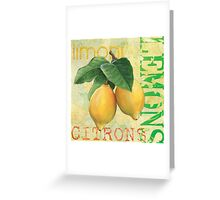 Froyo Lemons Greeting Card