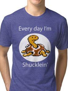 Shuckle (For Dark Shirt) Tri-blend T-Shirt